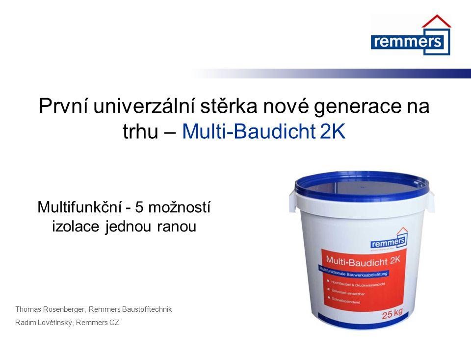 První univerzální stěrka nové generace na trhu – Multi-Baudicht 2K