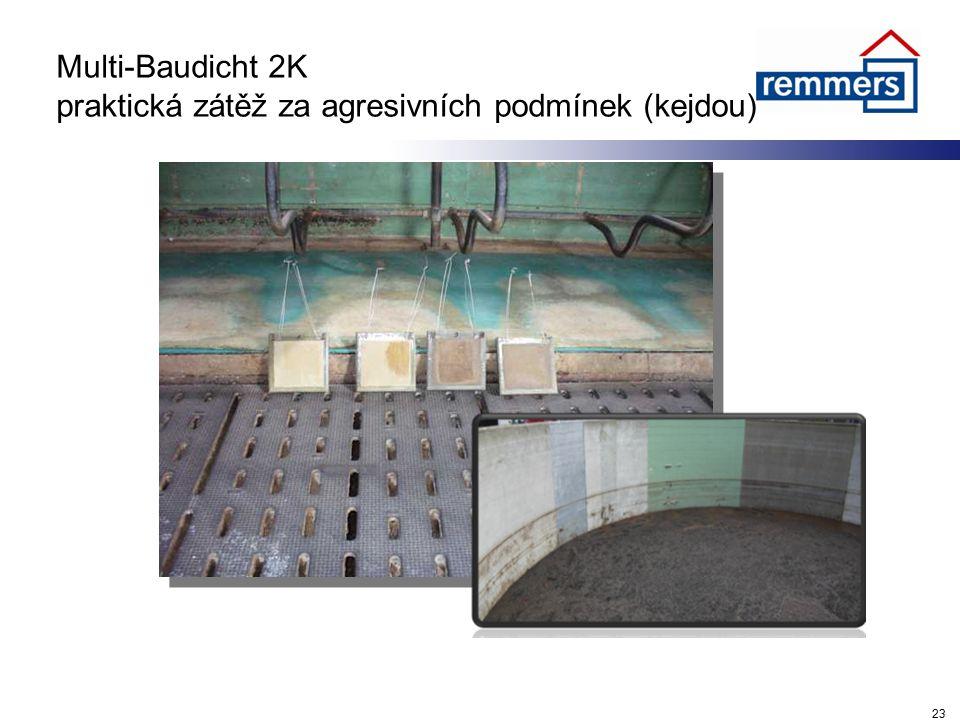 Multi-Baudicht 2K praktická zátěž za agresivních podmínek (kejdou)