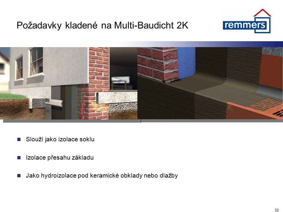 Požadavky kladené na Multi-Baudicht 2K