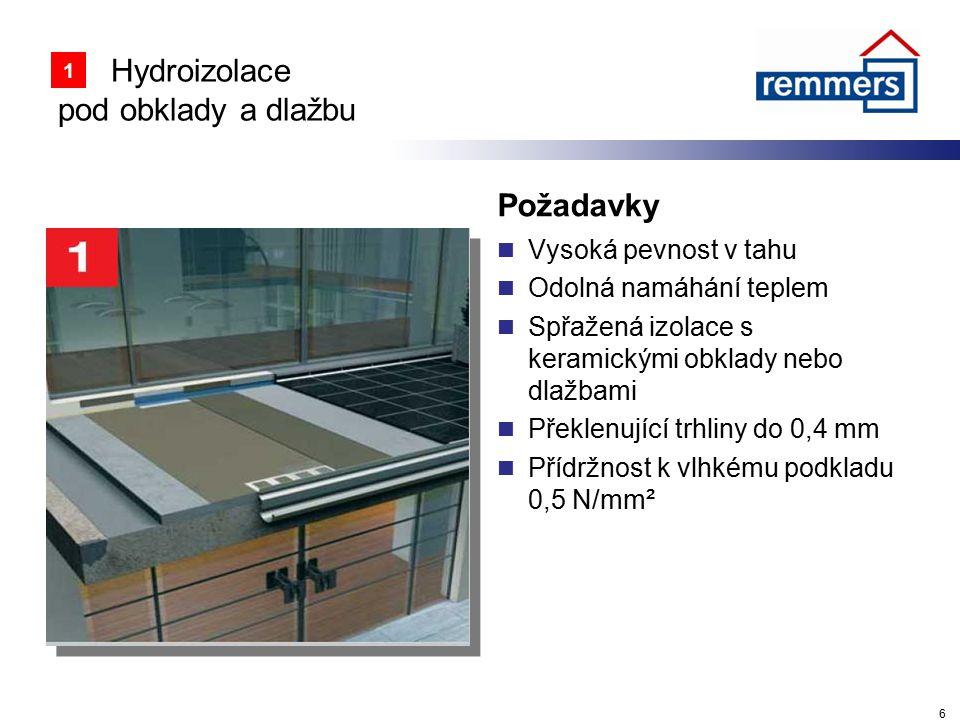 Hydroizolace pod obklady a dlažbu