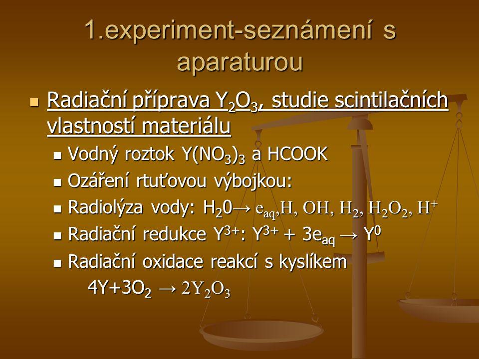 1.experiment-seznámení s aparaturou