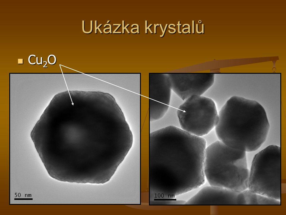 Ukázka krystalů Cu2O