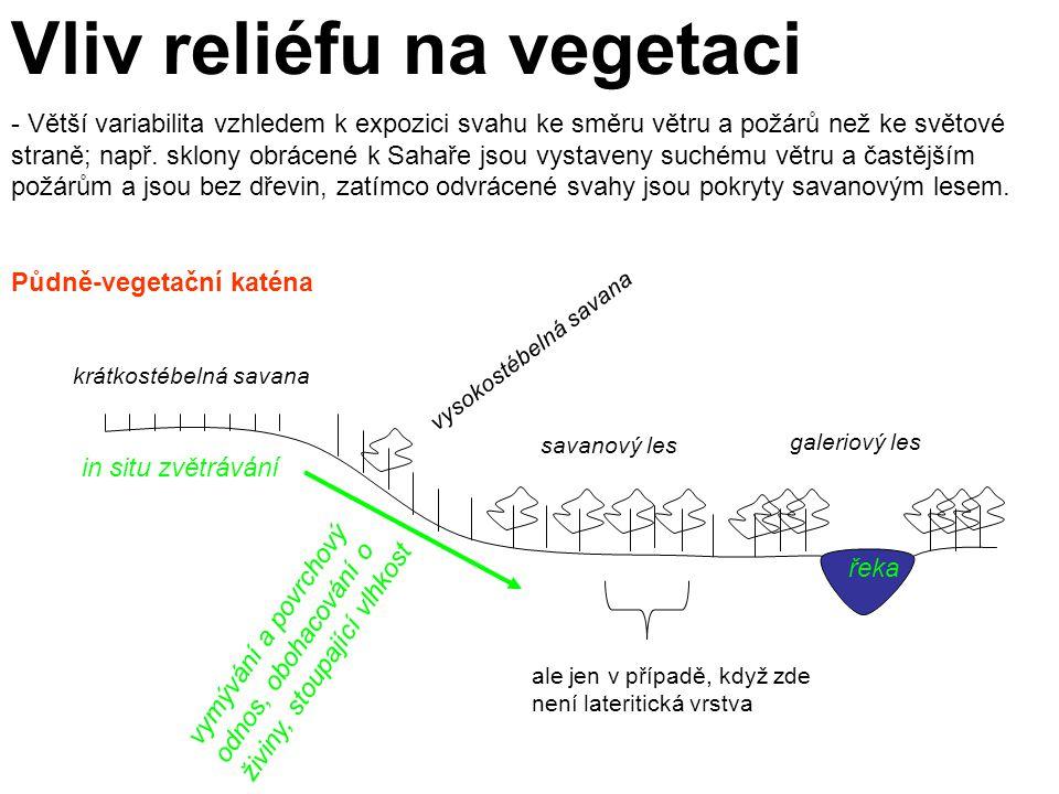 Vliv reliéfu na vegetaci