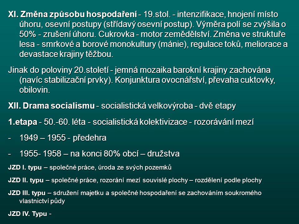 XII. Drama socialismu - socialistická velkovýroba - dvě etapy