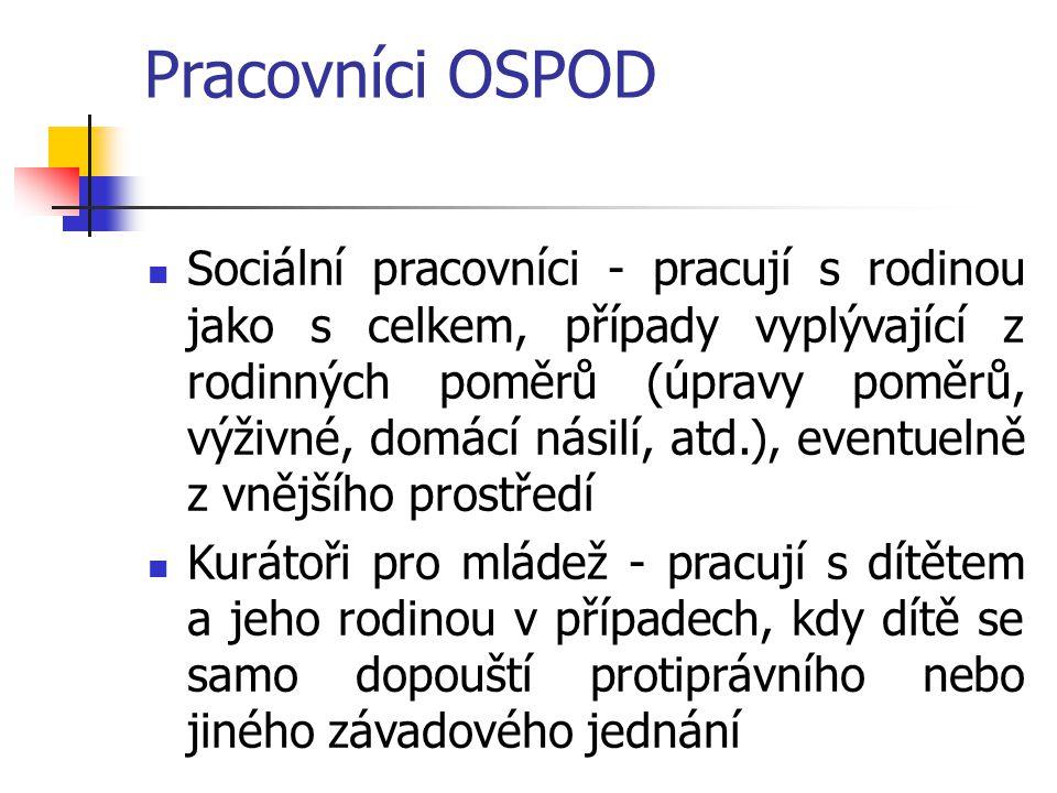 Pracovníci OSPOD