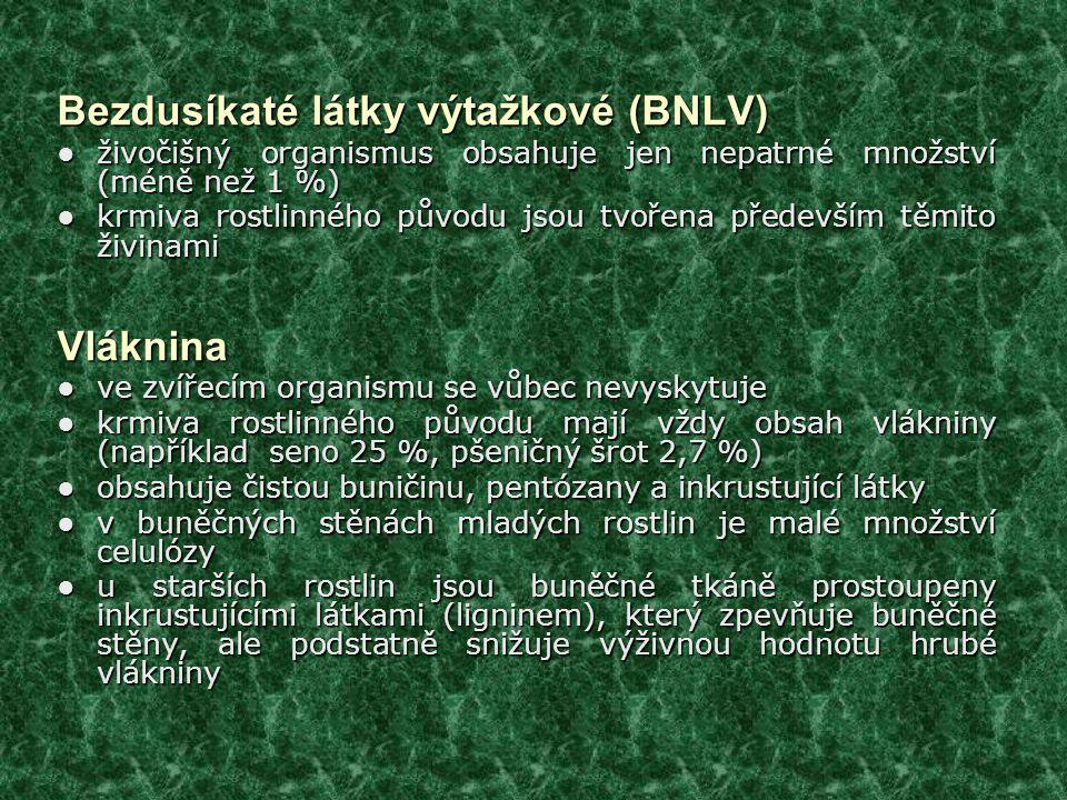Bezdusíkaté látky výtažkové (BNLV)