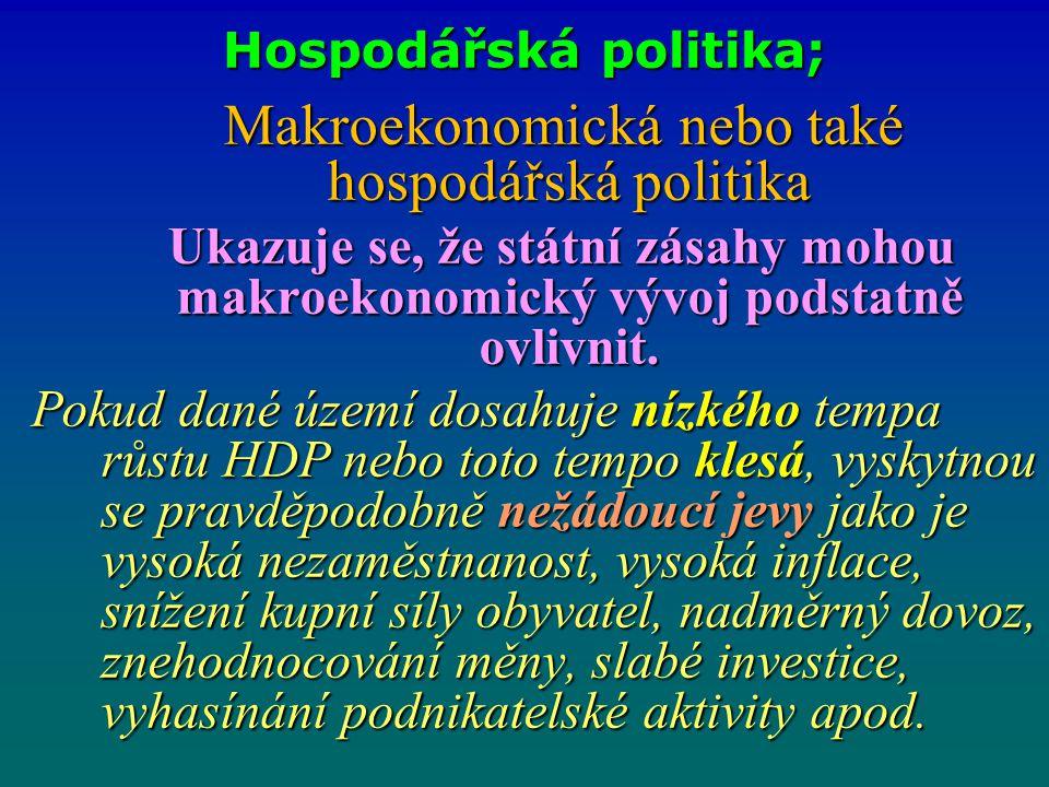 Hospodářská politika;