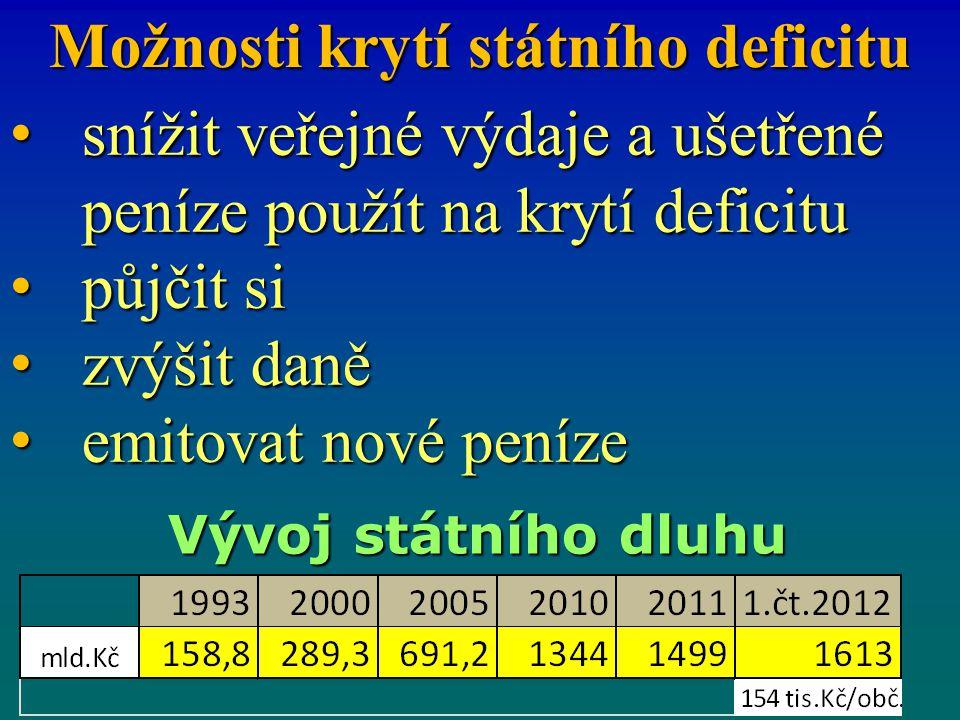 Možnosti krytí státního deficitu