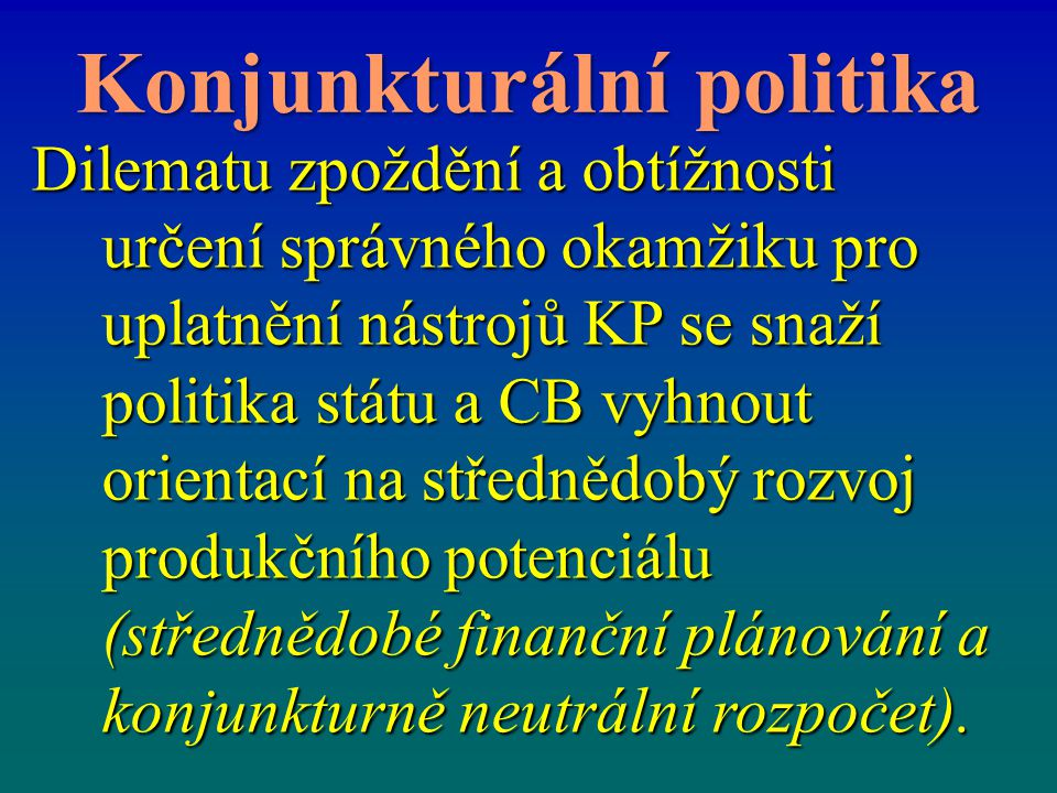Konjunkturální politika