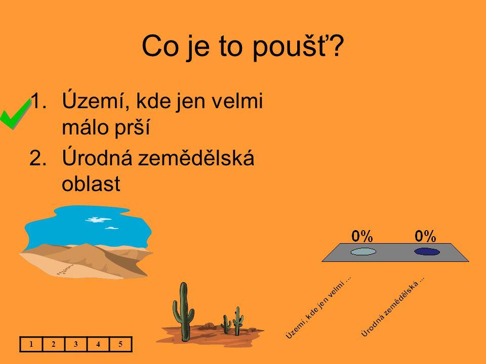 Co je to poušť Území, kde jen velmi málo prší