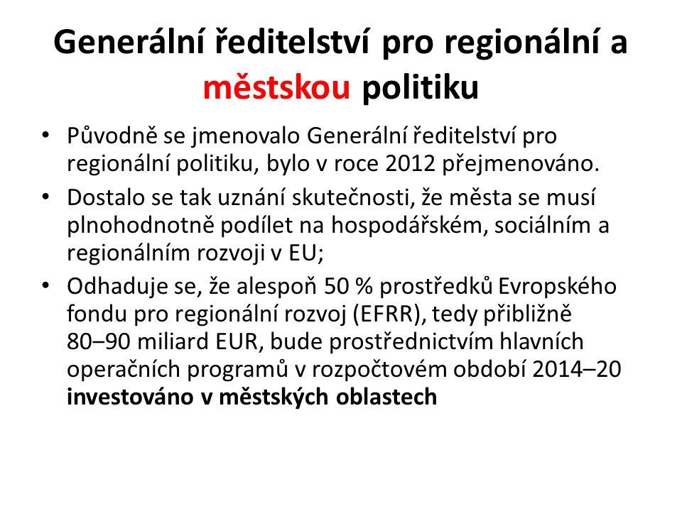 Generální ředitelství pro regionální a městskou politiku
