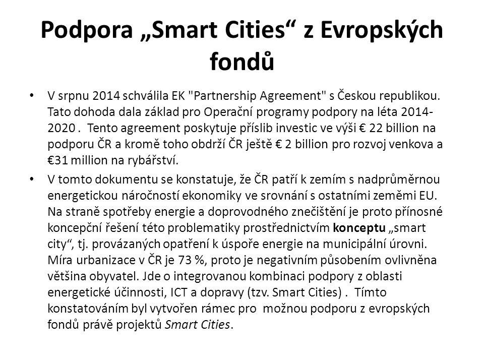 """Podpora """"Smart Cities z Evropských fondů"""