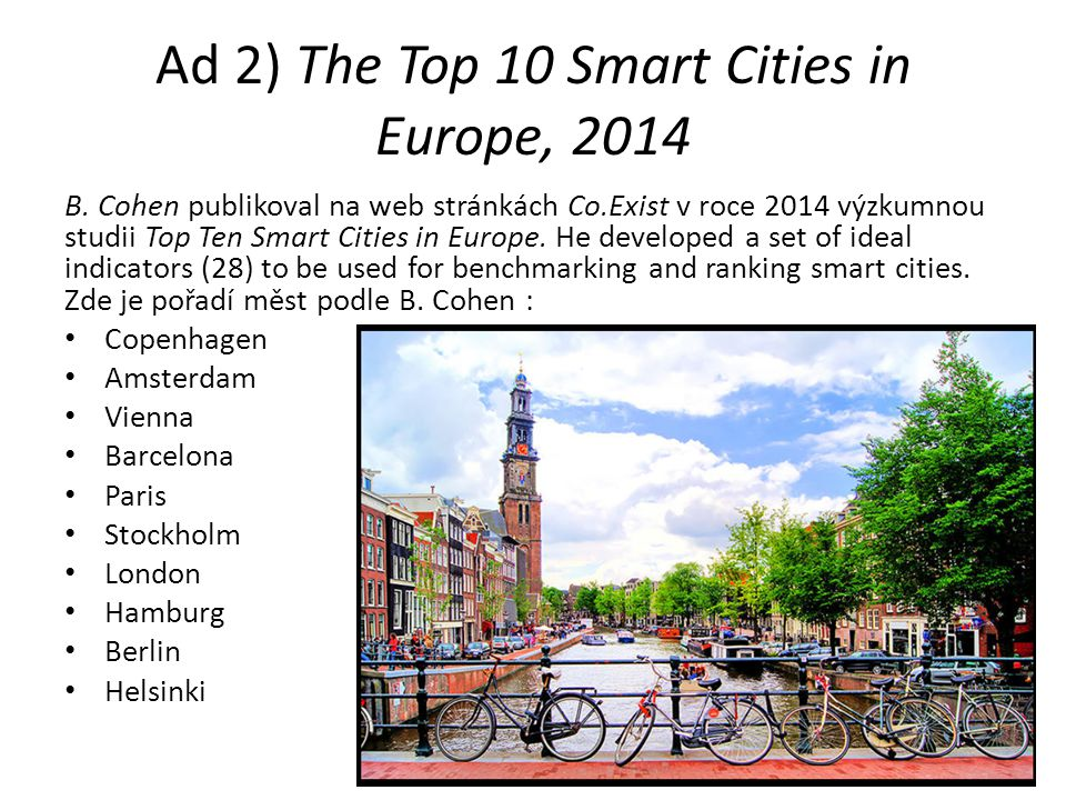 Ad 2) The Top 10 Smart Cities in Europe, 2014