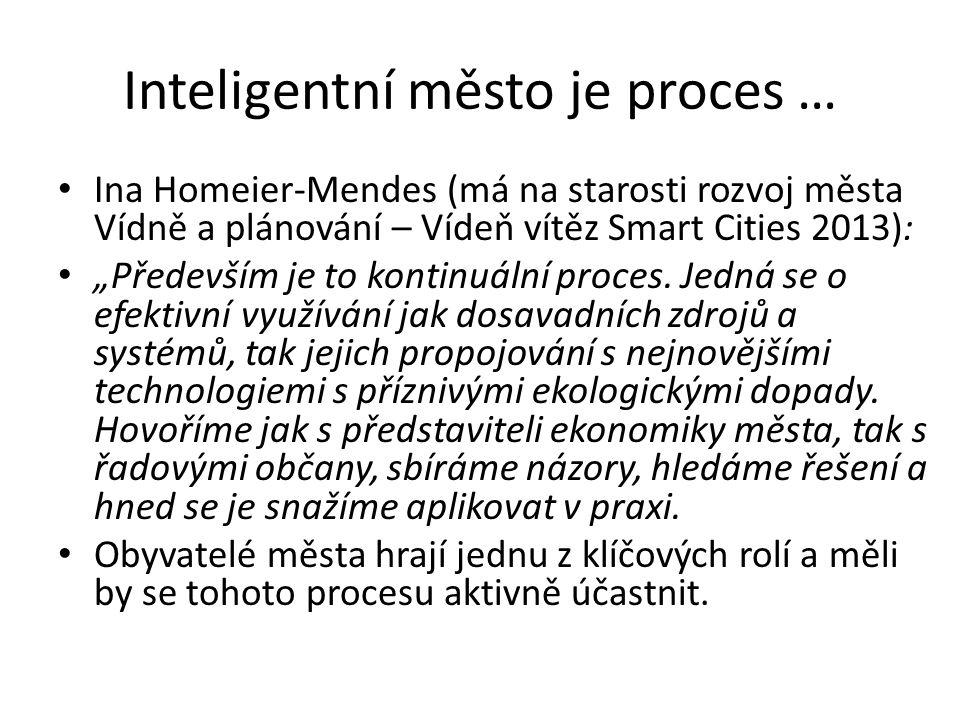 Inteligentní město je proces …