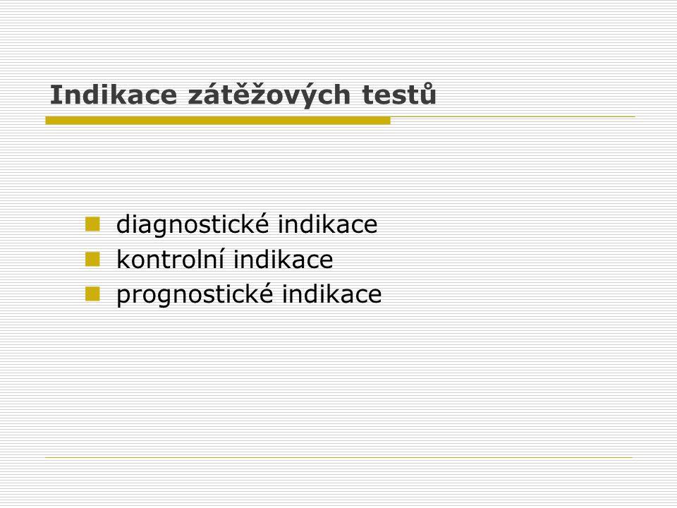 Indikace zátěžových testů