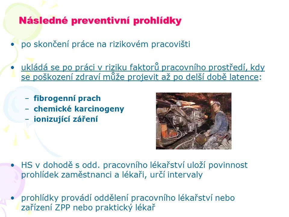 Následné preventivní prohlídky