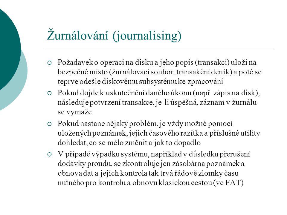 Žurnálování (journalising)