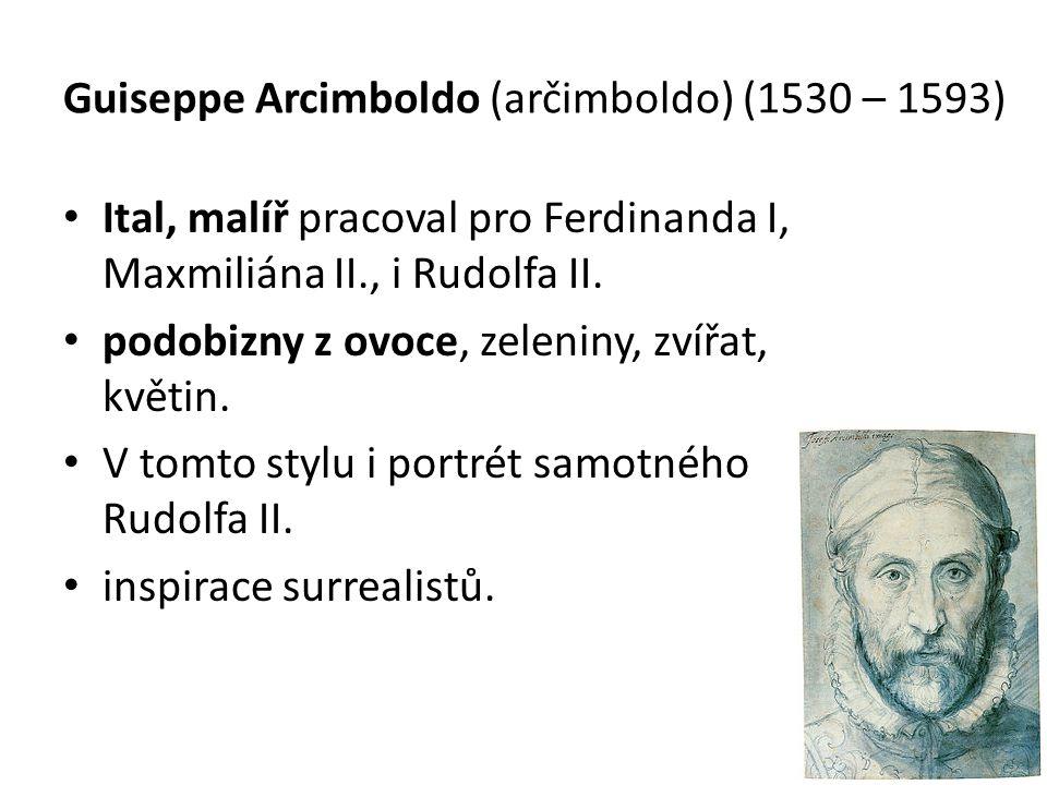 Guiseppe Arcimboldo (arčimboldo) (1530 – 1593)