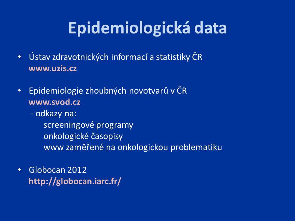 Epidemiologická data Ústav zdravotnických informací a statistiky ČR