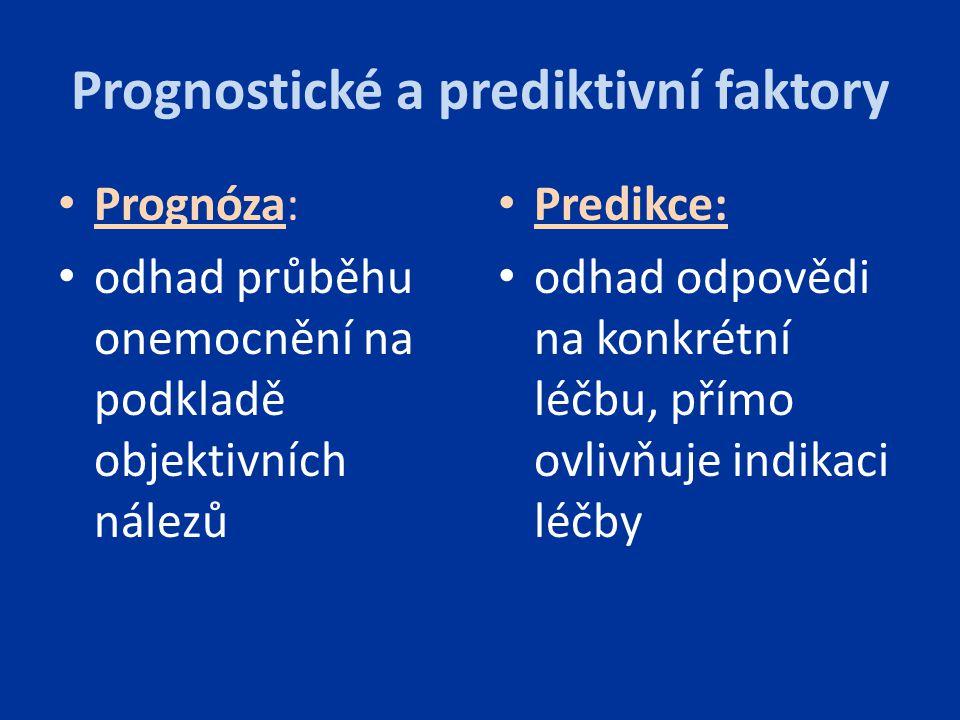 Prognostické a prediktivní faktory