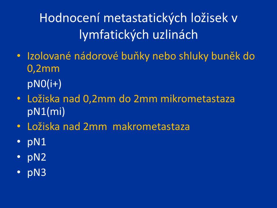 Hodnocení metastatických ložisek v lymfatických uzlinách