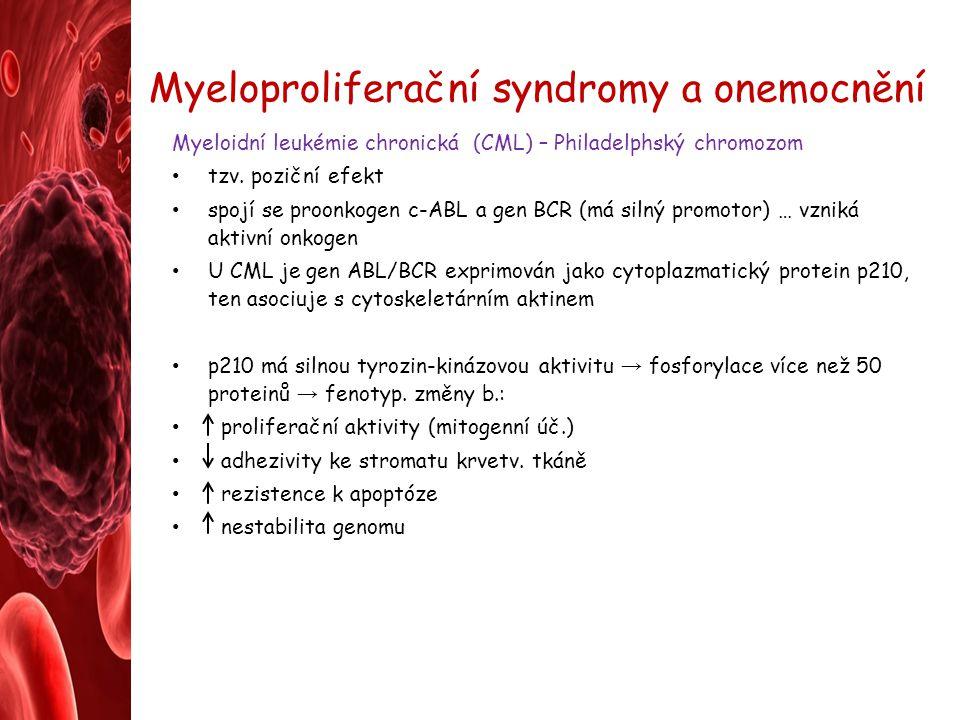 Myeloproliferační syndromy a onemocnění
