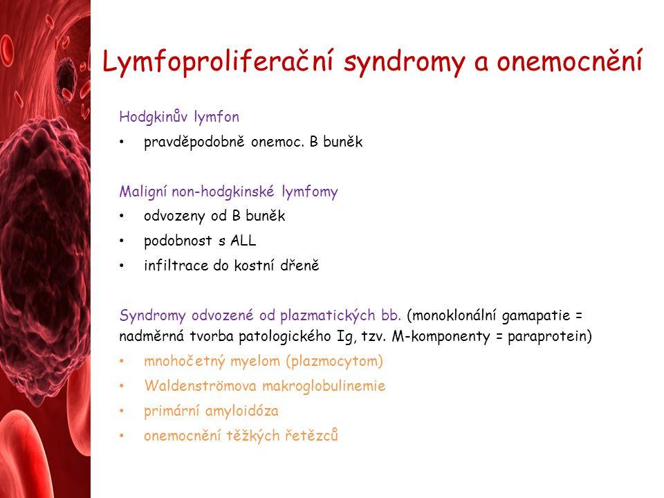 Lymfoproliferační syndromy a onemocnění