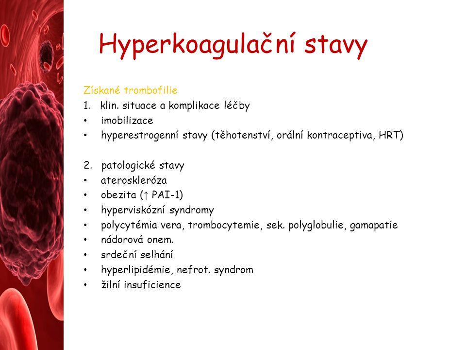 Hyperkoagulační stavy