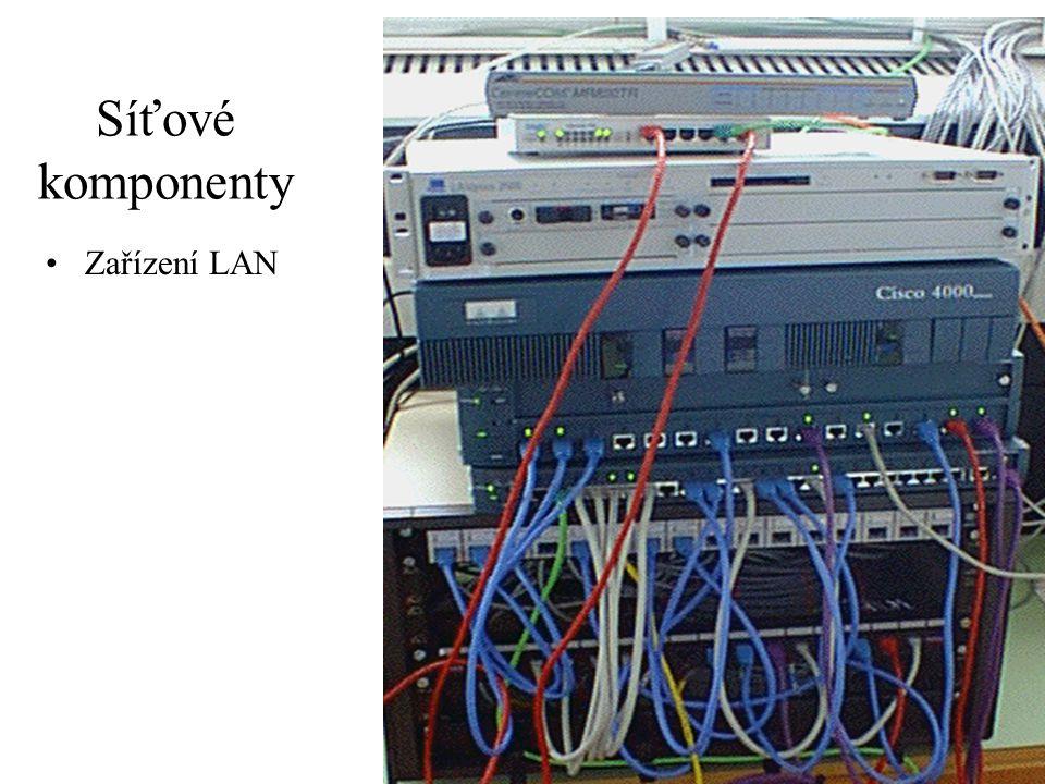 Síťové komponenty Zařízení LAN