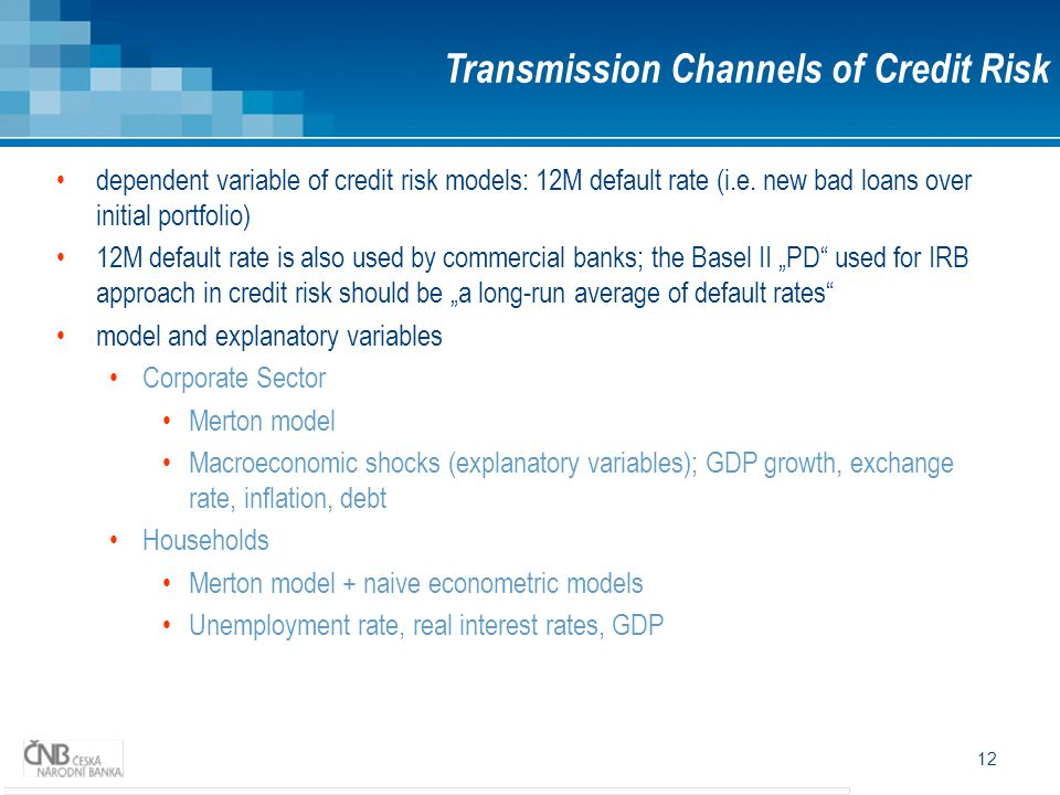 Transmission Channels of Credit Risk