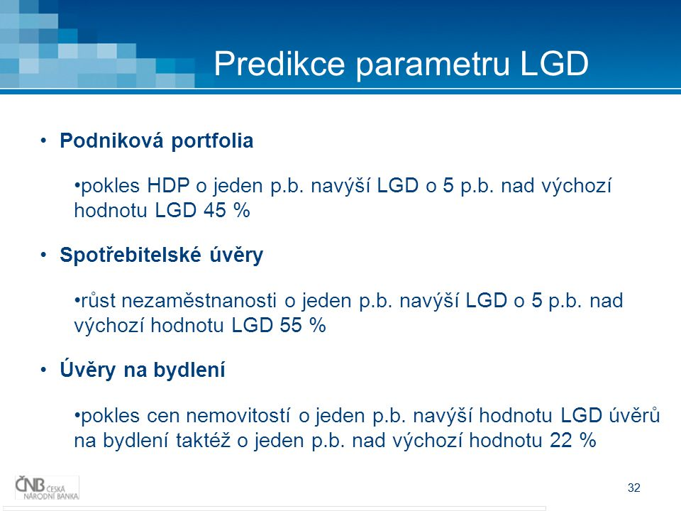 Predikce parametru LGD