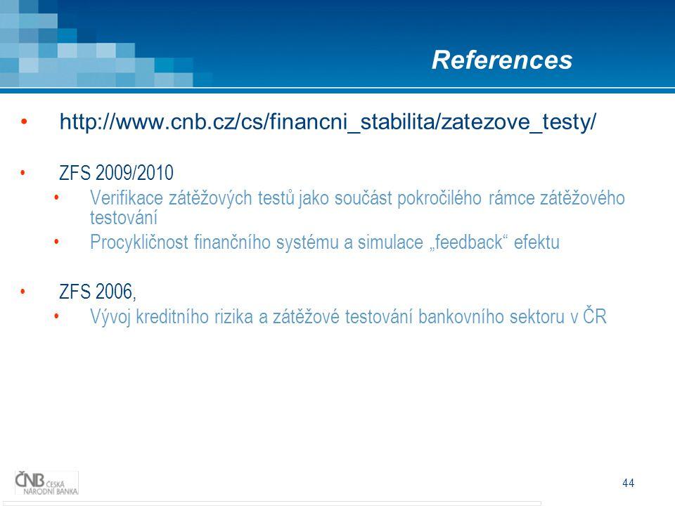 References http://www.cnb.cz/cs/financni_stabilita/zatezove_testy/