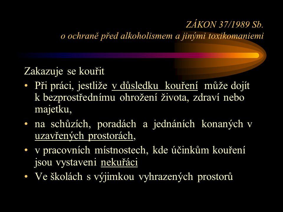 ZÁKON 37/1989 Sb. o ochraně před alkoholismem a jinými toxikomaniemi