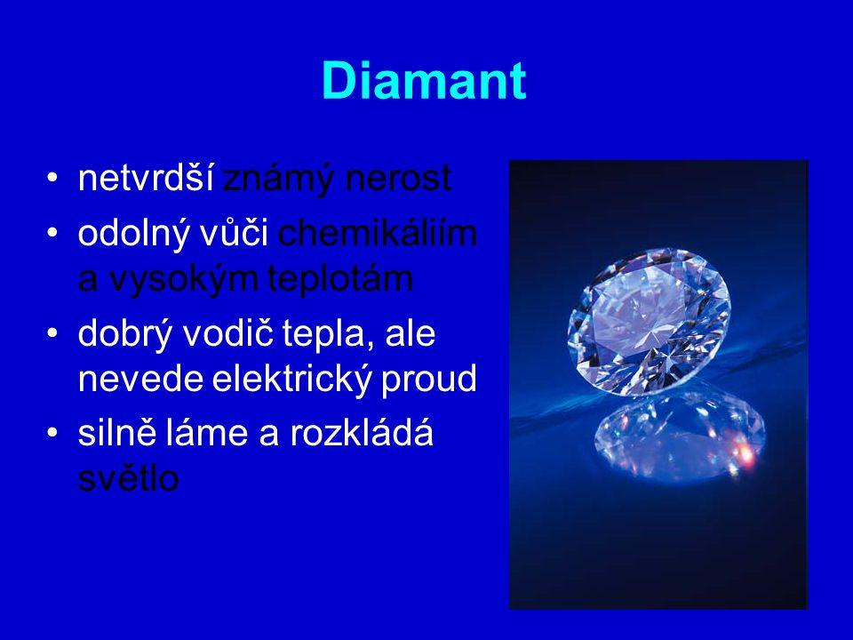 Diamant netvrdší známý nerost