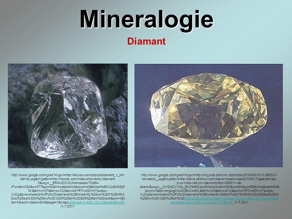 Mineralogie Diamant.
