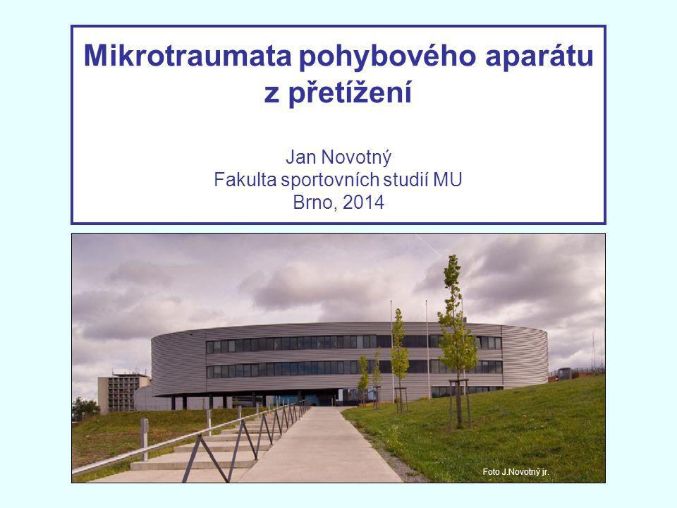 Mikrotraumata pohybového aparátu z přetížení Jan Novotný Fakulta sportovních studií MU Brno, 2014