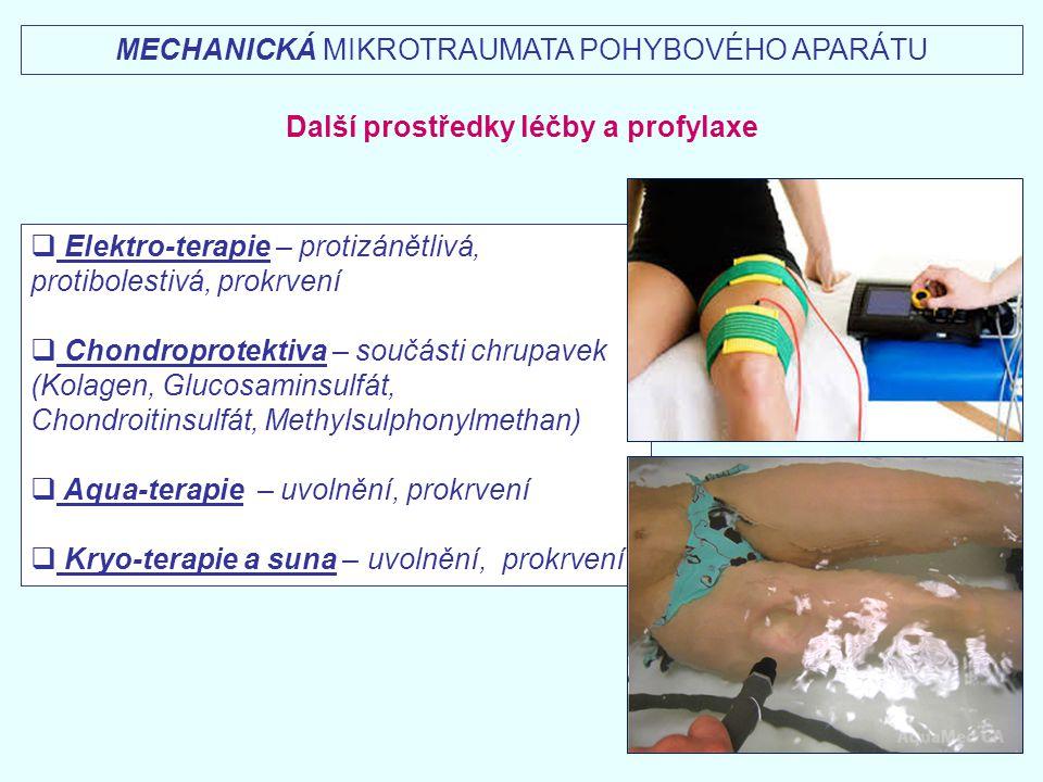 Další prostředky léčby a profylaxe