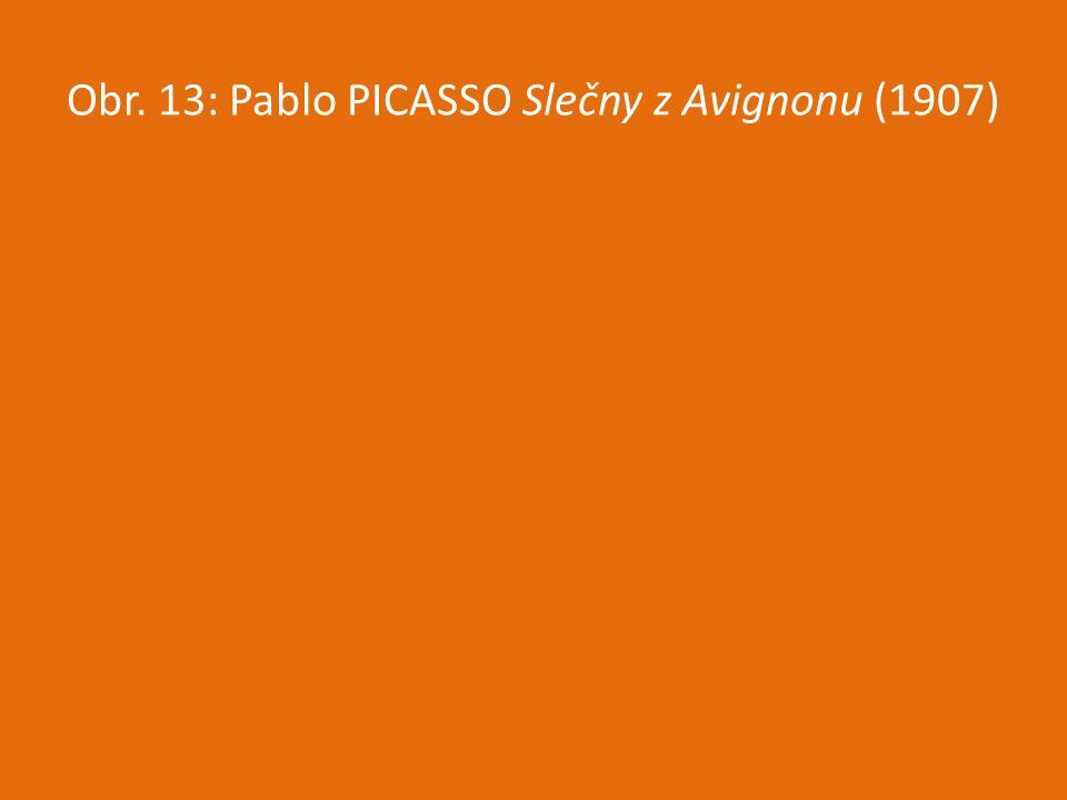 Obr. 13: Pablo PICASSO Slečny z Avignonu (1907)