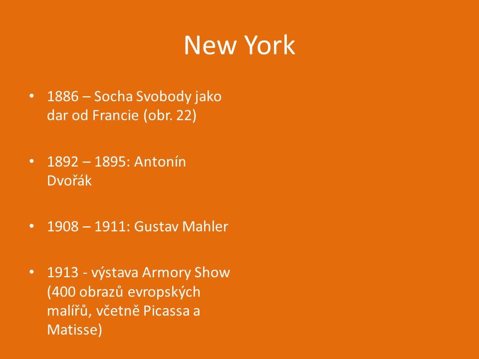 New York 1886 – Socha Svobody jako dar od Francie (obr. 22)