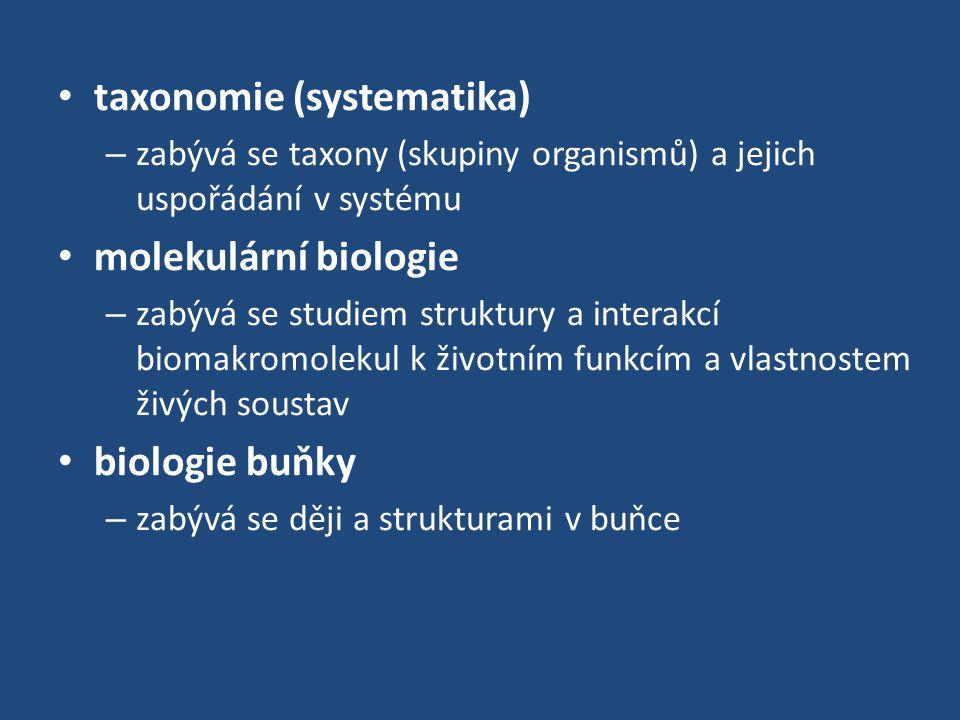 taxonomie (systematika)