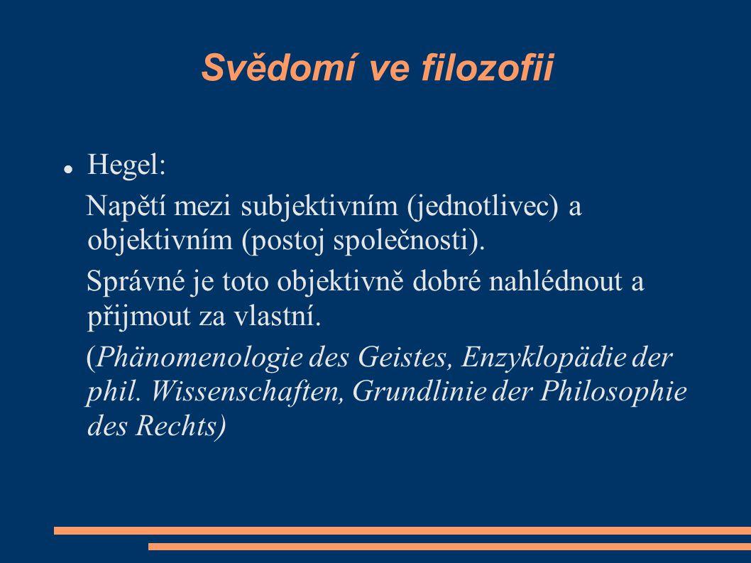 Svědomí ve filozofii Hegel: