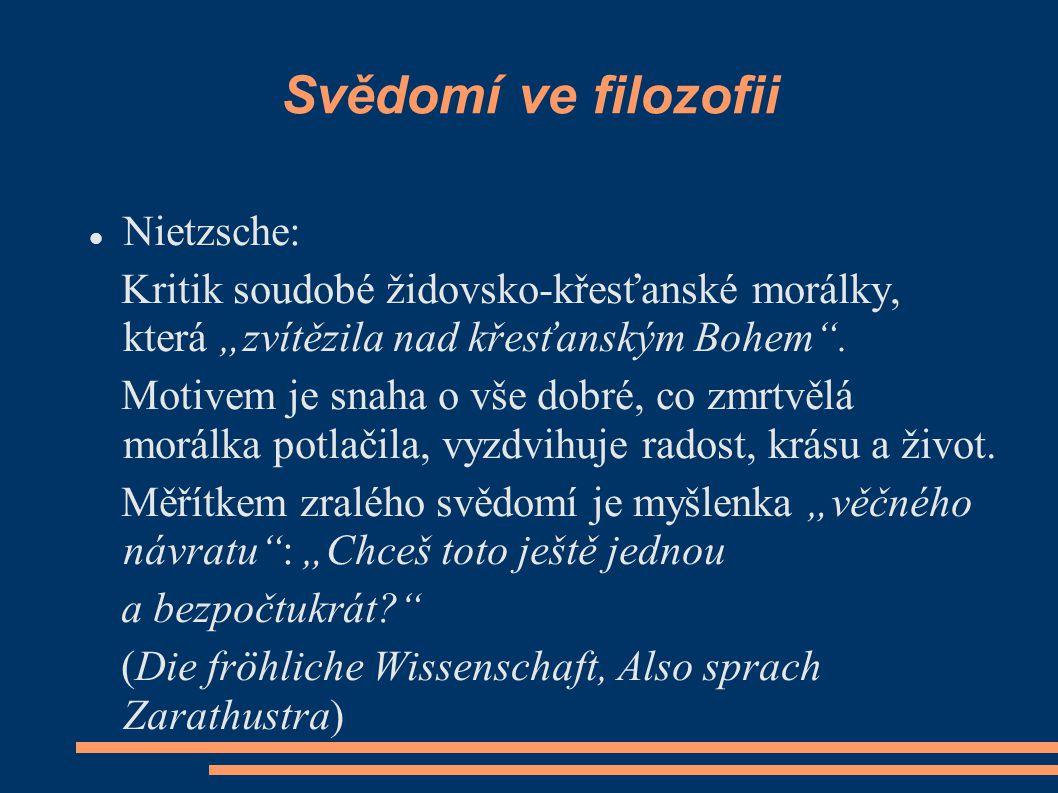 Svědomí ve filozofii Nietzsche: