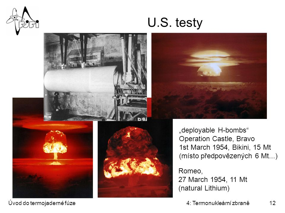 "U.S. testy ""deployable H-bombs"