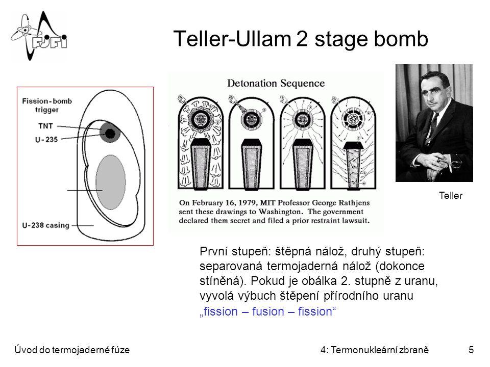 Teller-Ullam 2 stage bomb