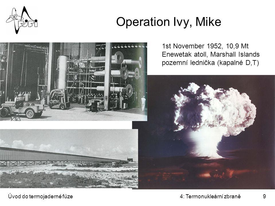 Operation Ivy, Mike 1st November 1952, 10,9 Mt