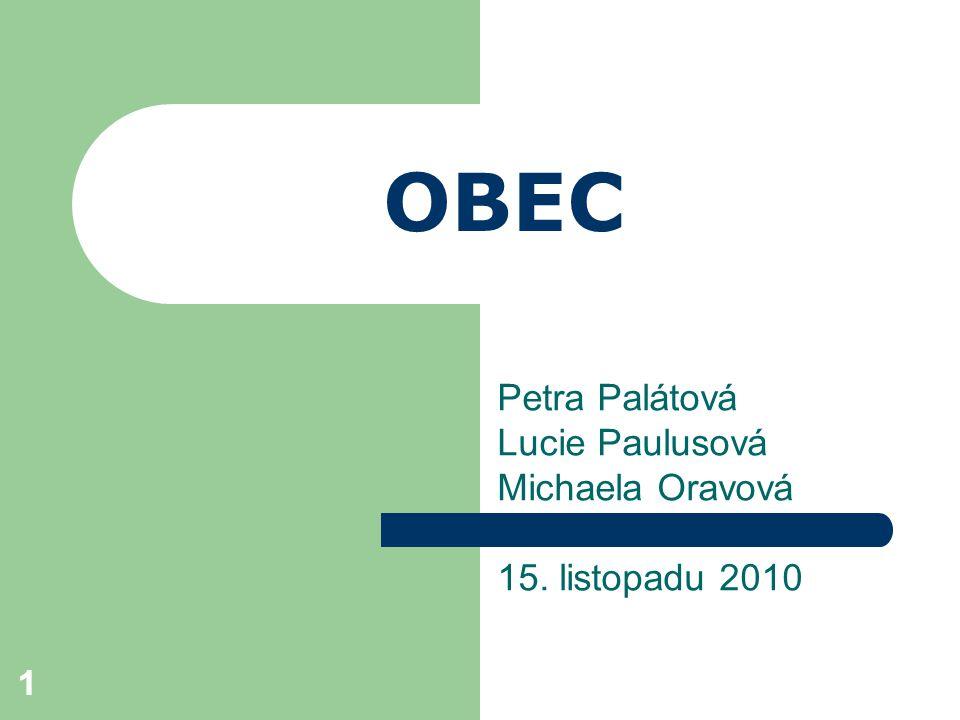Petra Palátová Lucie Paulusová Michaela Oravová 15. listopadu 2010
