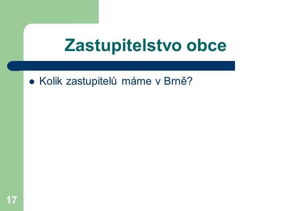 Zastupitelstvo obce Kolik zastupitelů máme v Brně