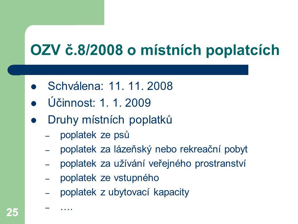 OZV č.8/2008 o místních poplatcích