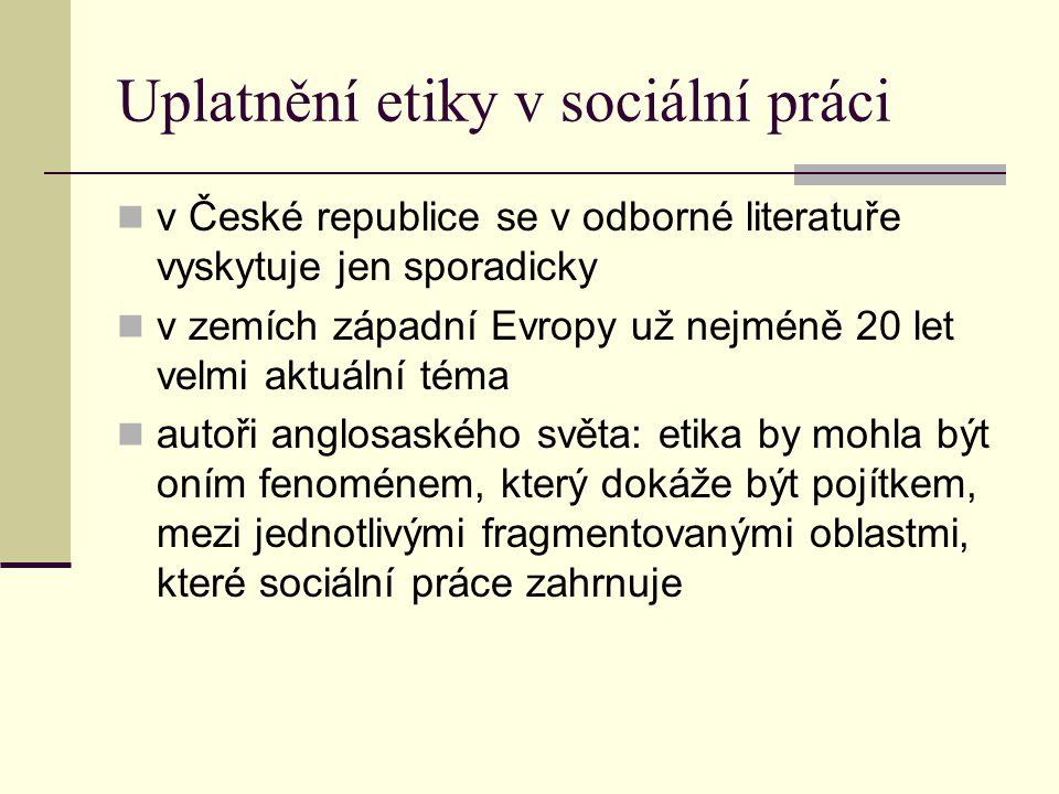 Uplatnění etiky v sociální práci