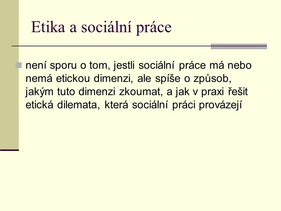 Etika a sociální práce